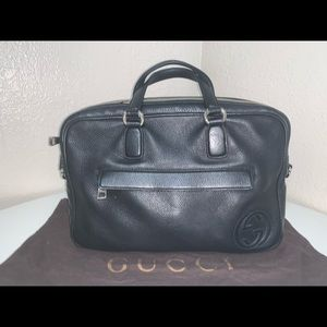 Authentic Gucci soho leather top handle tote bag